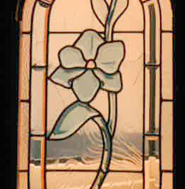 vitral de flor en relieve bisel